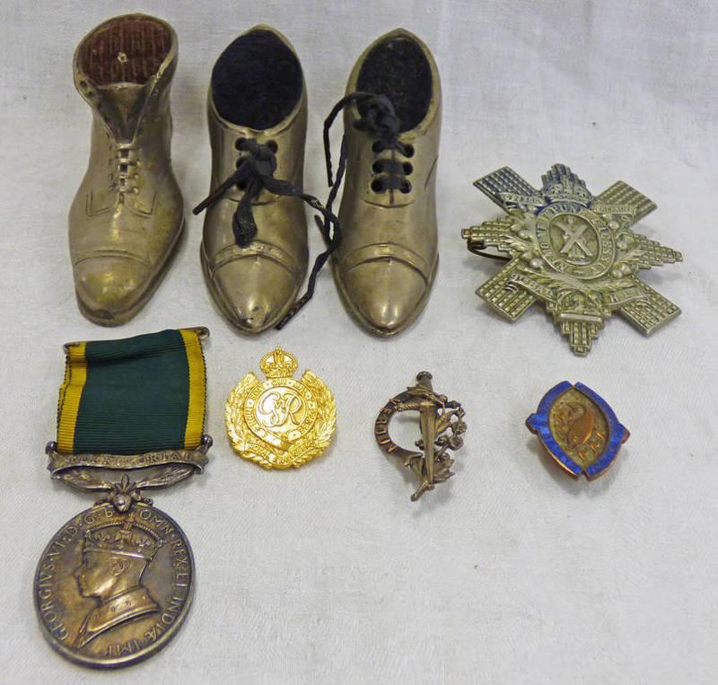 GLASGOW HIGHLANDERS 9TH BATTALION HIGHLAND INFANTRY, TERRITORIAL ARMY EFFICIENT SERVICE BADGE,