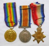 3 WW1 MEDALS TO PRIVATE R TAYLOR, SOUTH AFRICAN INFANTRY, 1914-15 STAR,