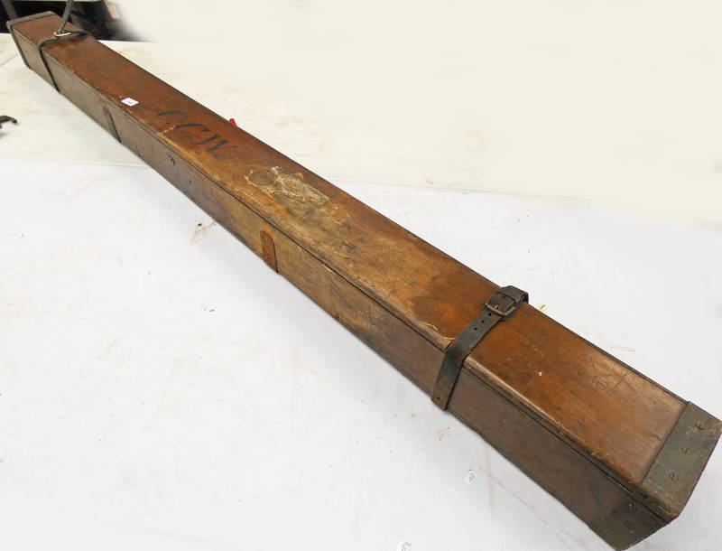 LATE 19TH/EARLY 20TH CENTURY FLY ROD BOX INITIATED C.C.