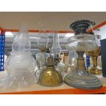 SELECTION OF PARAFFIN LAMPS,