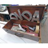 SHOP DISPLAY LETTERING IN WOODEN BOX, DAVID , X,