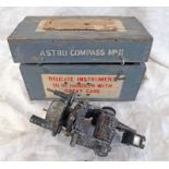 BRITISH AIR MINISTRY ASTRO COMPASS MK11 IN FITTED WOODEN CASE