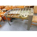 JAMES POWER SPORTS SOCCER TABLE Condition Report: useable. Has seen a lot of use.