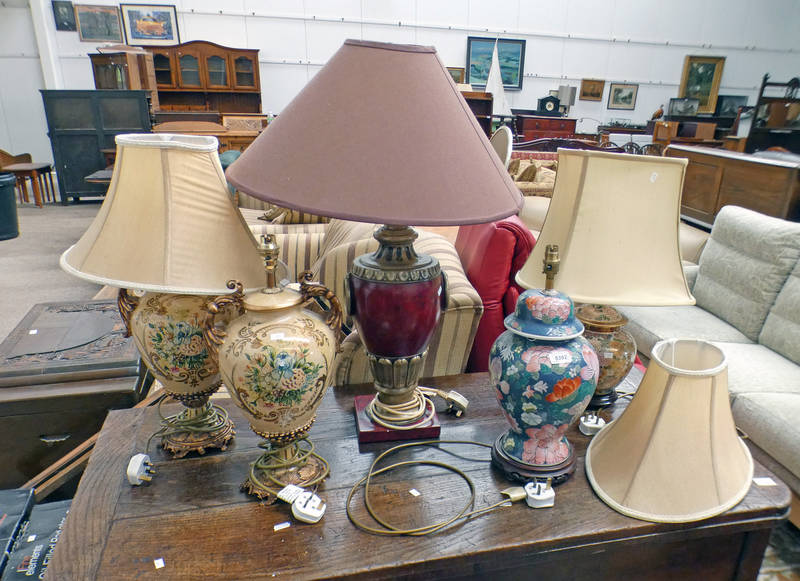 2 ORIENTAL STYLE TABLE LAMPS,