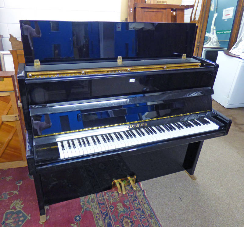 C BECHSTEIN EBONISED OVERSTRUNG PIANO SERIAL NUMBER 189644 WIDTH 152CM Condition Report: