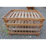 4 PINE VEGETABLE STANDS