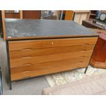 PLAIN CHEST OF 5 DRAWERS.