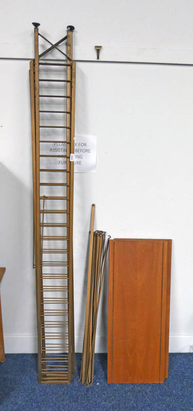 LADDERAX OPEN SHELVES WITH 3 GOLD METAL SUPPORTS & SHELVES Condition Report: Paint