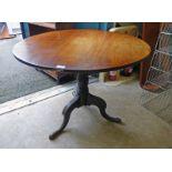 EARLY 20TH CENTURY MAHOGANY CIRCULAR PEDESTAL TABLE,