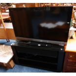"""SONY BRAVIA 40"""" TV AND MEDIA STAND WITH BUILT IN YAMAHA DIGITAL SOUND PROJECTOR YSP-900 SOUND BAR"""