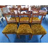 SET OF 6 EARLY 20TH CENTURY OAK DINING CHAIRS ON TURNED SUPPORTS