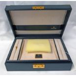 ROLEX GREEN LEATHER JEWELLERY BOX WITH FITTED INTERIOR - 30CM WIDE