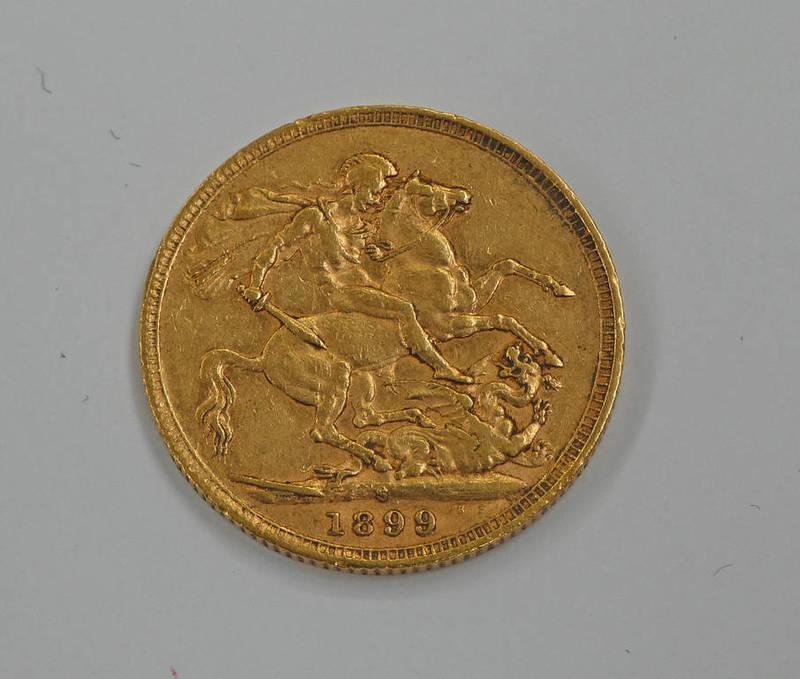 VICTORIA 1899 SYDNEY MINT SOVEREIGN