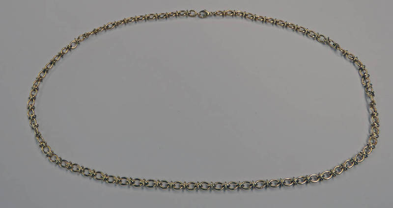 9CT GOLD FANCY LINK CHAIN - 30.