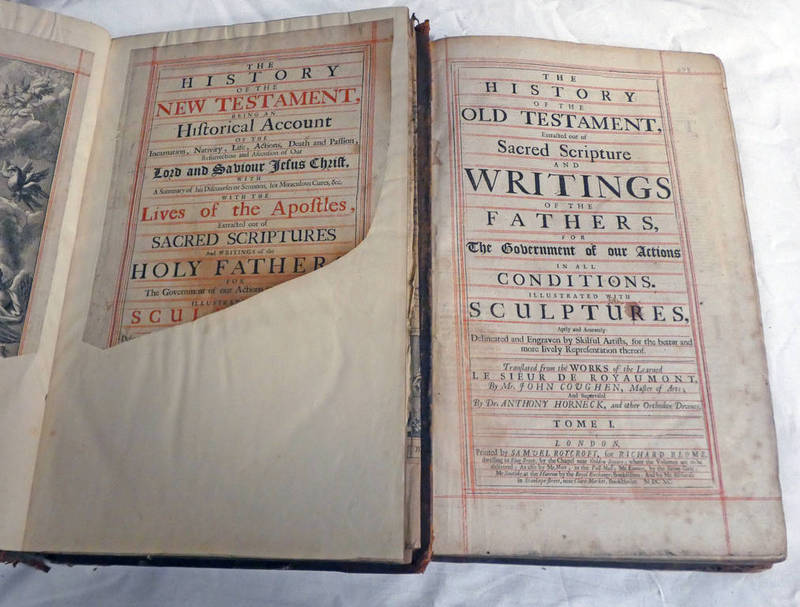 THE HISTORY OF THE OLD TESTAMENT, EXTRACTED OUT OF SACRED SCRIPTURE AND WRITINGS OF THE FATHERS,