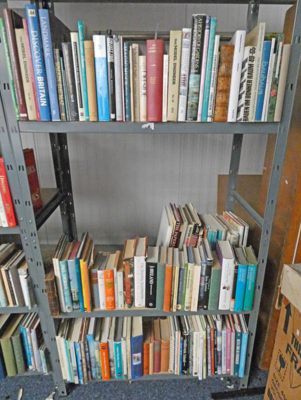 SELECTION OF VARIOUS BOOKS ON TRAINS, SCOTLAND, GENERAL FICTION, ETC,