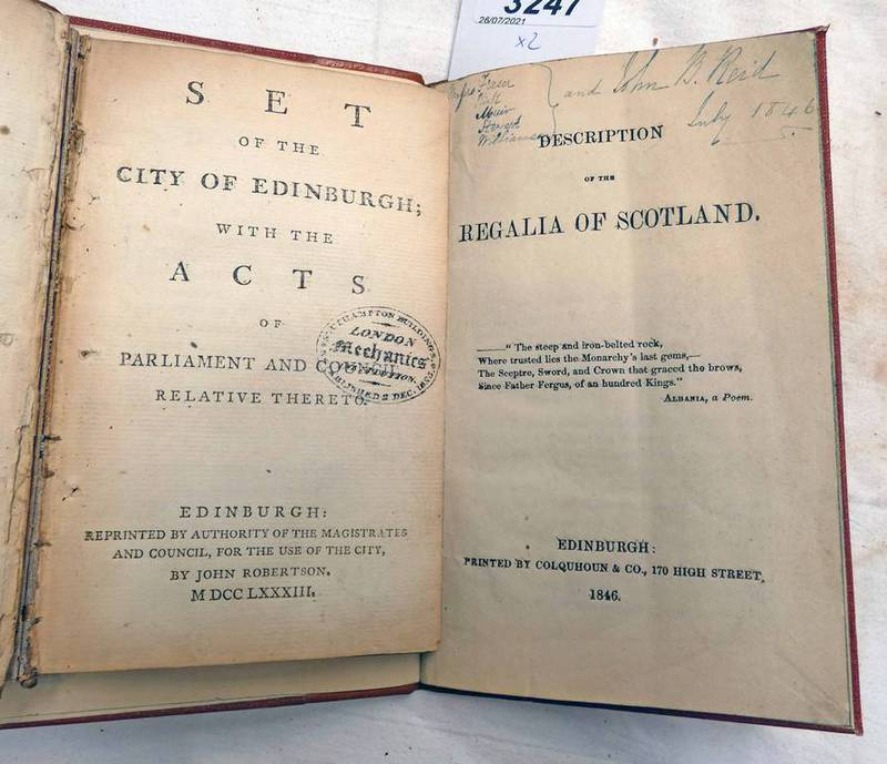 SET OF THE CITY OF EDINBURGH; WITH THE ACTS OF PARLIAMENT AND COUNCIL RELATIVE THERETO,