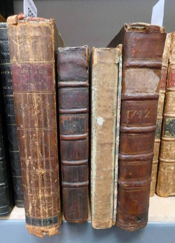THE EDINBURGH MAGAZINE OR, LITERARY MISCELLANY VOLUME X QUARTER LEATHER BOUND - 1789,