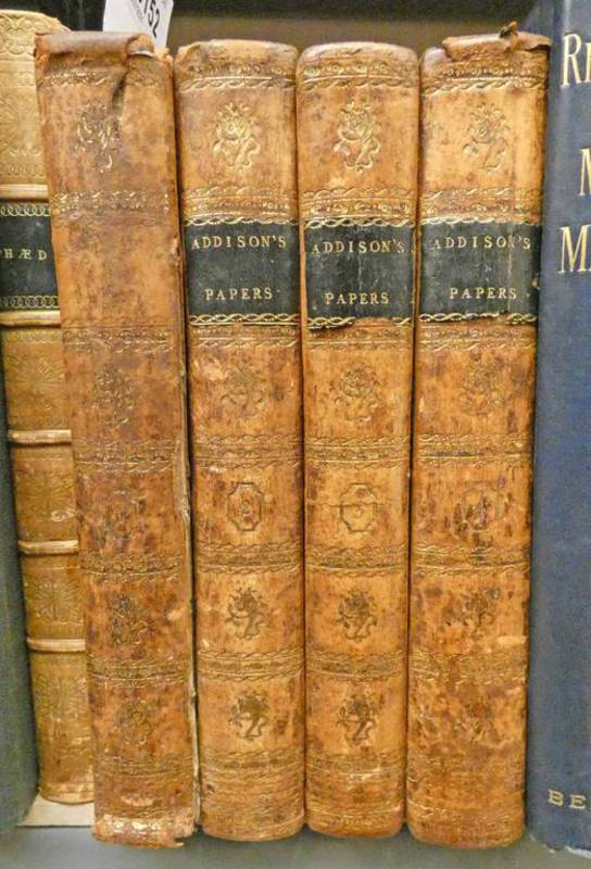 THE PAPERS OF JOSEPH ADDISON ESQ, IN THE TATLER, SPECTATOR, GUARDIAN AND FREEHOLDER,