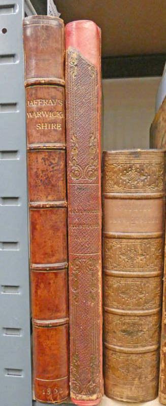 GRAPHIC ILLUSTRATIONS OF WARWICKSHIRE BY JAMES JAFFRAY, QUARTER LEATHER BOUND - 1862,