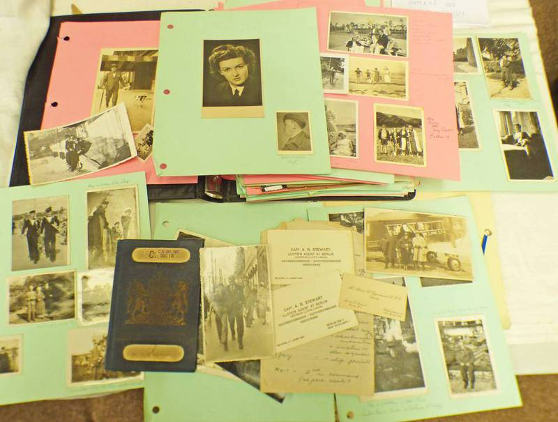 SELECTION OF VARIOUS PHOTOGRAPHS ETC RELATING TO CAPTAIN A.B.