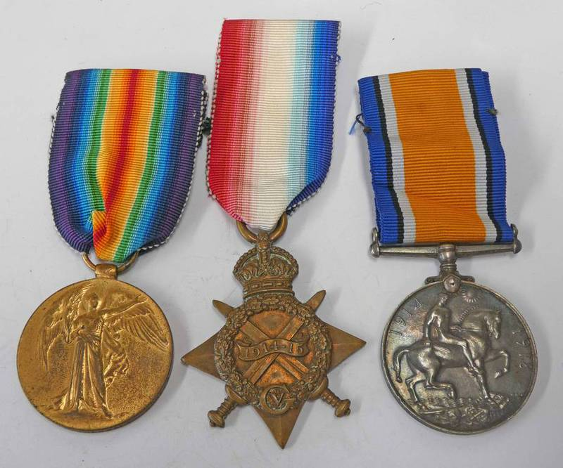 WW1 MEDAL TRIO WITH 1914-15 STAR NAMED TO 12182 PTE. C. THEOBALD. NORF. R.