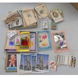 SELECTION OF POSTCARDS,