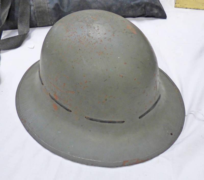 WW2 BRITISH CIVIL DEFENCE HELMET,