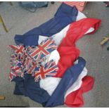 UNION JACK BUNTING & A FRENCH FLAG BANNER -2- Condition Report: Bunting is 18