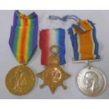 WW1 MEDAL TRIO NAMED TO 51503 PTE. L. STANLEY R. A. M. C.
