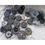 SELECTION OF FISHING REELS ETC TO INCLUDE SHAKESPEARE 2687 000, LURE FLASH, VARIOUS SPARE SPOOLS,