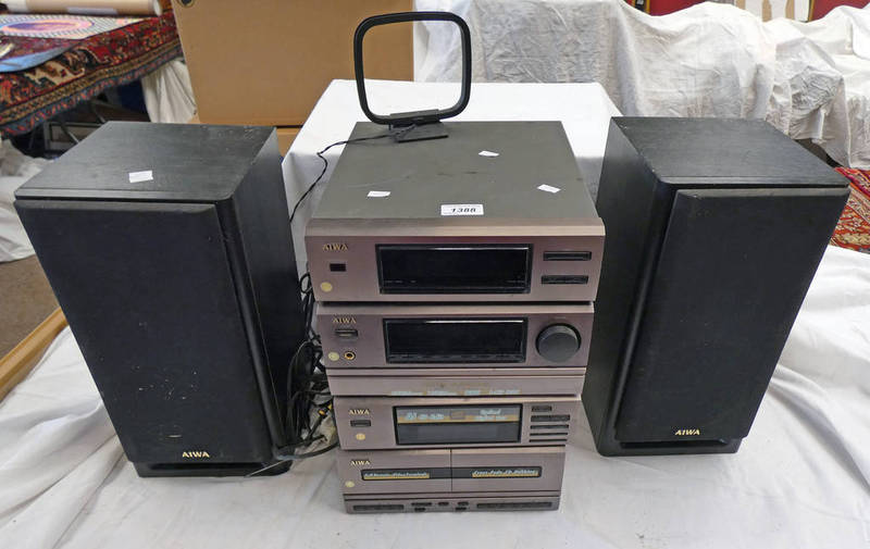 AIWA MUSIC CENTRE WITH SPEAKERS