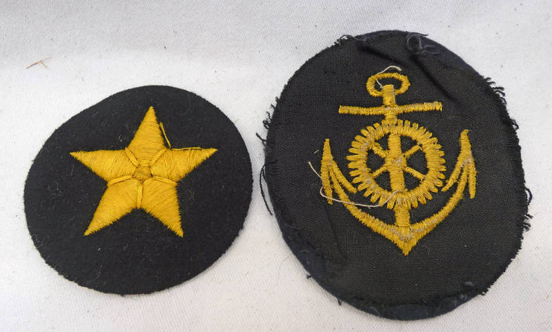 TWO THIRD REIGH KRIEGSMARINE CLOTH PATCHES