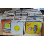 VAST SELECTION OF VARIOUS 45RPM RECORDS TO INCLUDE KRAFTWERK, ROLLING STONES, MADNESS,