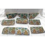 SELECTION OF INDO PERSIAN PAINTED WALL TILES