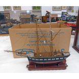 "DOUBLE MASTED MODEL OF ""LEE WARD"" SAILING SHIP,"