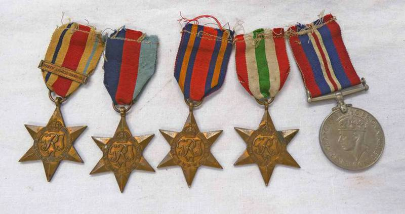 5 WW2 MEDALS TO INCLUDE ITALY, BURMA,
