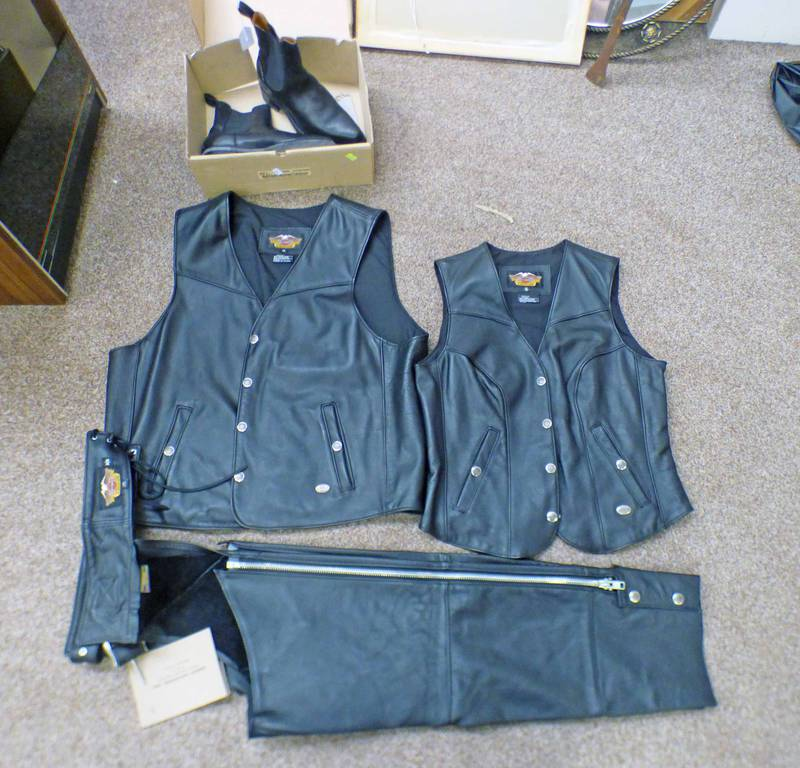 HARLEY DAVIDSON WAIST COATS WITH LABELS,