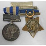 EGYPT MEDAL WITH SUAKIN 1885 CLASP TO 5817 PTE. A. ELLISON. 1 / COLD.