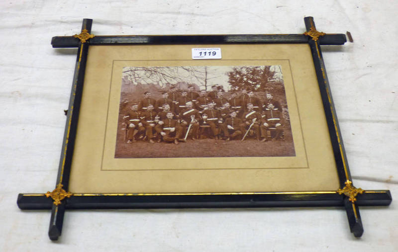 FRAMED PHOTOGRAPH OF THE FIFESHIRE ROYAL GARRISON ARTILLERY (VOLUNTEERS) FIFE & STIRLING,