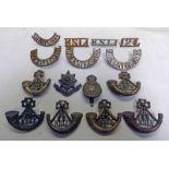 15 CAP BADGES / SHOULDER RIFLES TO THE KINGS SHROPSHIRE LIGHT INFANTRY K.S.L.I.
