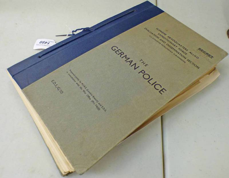*THE FOLLOWING 11 LOTS (1499 - 1499K) ARE PART OF A COLLECTION OF BRITISH AND GERMAN WW2