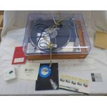 GOLDRING LENCO GL75 STEREO TRANSCRIPTION TURNTABLE WITH ACCESSORIES, INSTRUCTIONS,