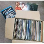 SELECTION OF RECORDS TO INCLUDE BOWIE, BOB DYLAN, QUEEN, RUSH, JUDAS PRIESTS, ROLLING STONES,