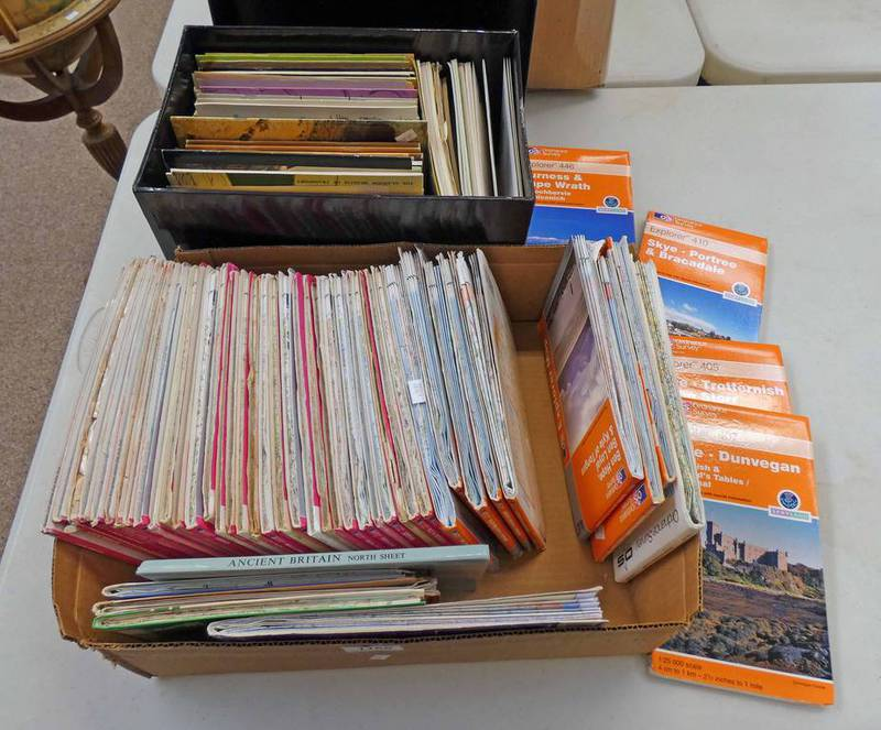 GOOD SELECTION OF OS MAPS ETC