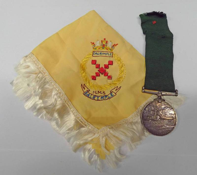 ROYAL NAVY VOLUNTEER RESERVE LONG SERVICE & GOOD CONDUCT MEDAL TO E. 729. P. KING. SEA N. 1. CL. R.