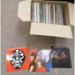 SELECTION OF RECORDS TO INCLUDE BUDGE NIGHT FLIGHT, IGGY POP, THE CLASH, KATE BUSH,