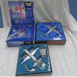 THREE CORGI MODEL AIRCRAFT FROM THE AVIATION ARCHIVE RANGE INCLUDING 47603 - VICKERS VISCOUNT