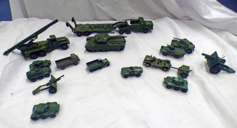 SELECTION OF MILITARY RELATED MODEL VEHICLES FROM DINKY, MATCHBOX,