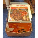 SELECTION OF VINYL MUSIC ALBUMS INCLUDING ARTISTS SUCH AS FRANK SINATRA, LOUIS ARMSTRONG,